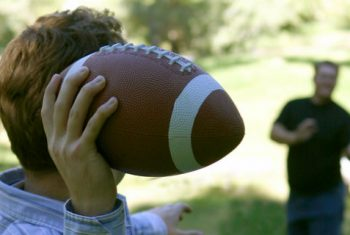 Throwing Football