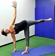 Yoga - half moon pose