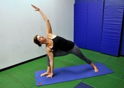 Yoga extended side angle pose