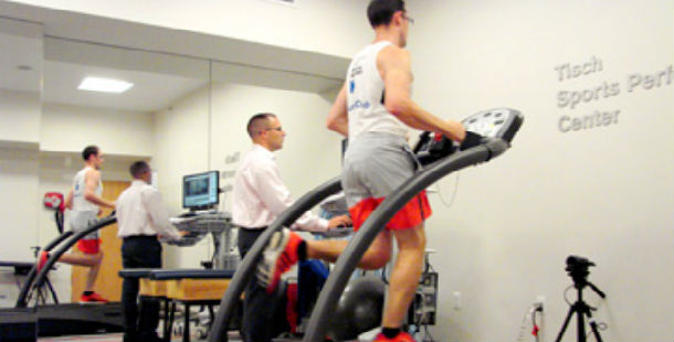 Jeremy running on the treadmill