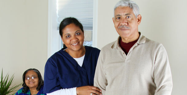home care worker and patient