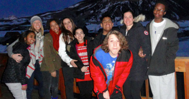 HSS patients and pediatric therapists at ski resort