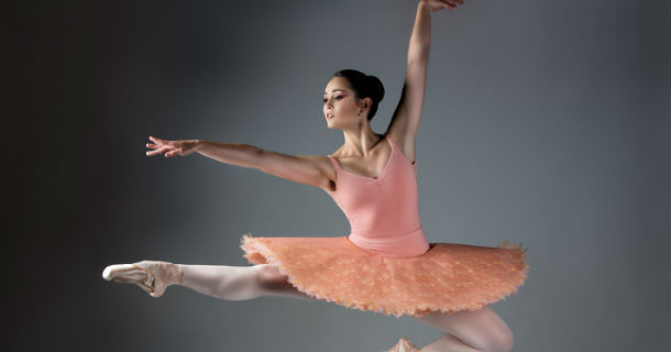 Ballerina leaping