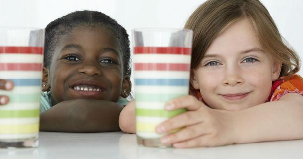 Children Enjoying Milk