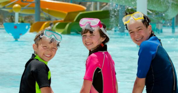 Three Kids Poolside