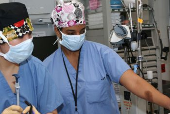 Dr. Meghan Kirksey in the OR