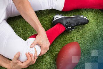 Football Player Knee Injury