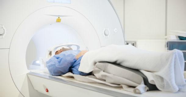 patient undergoing MRI