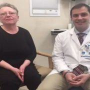 HSS rheumatologist Dr. David Fernandez with patient