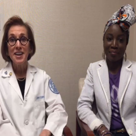 Lupus Facebook Live broadcast with Dr. Jane Salmon and patient Monique