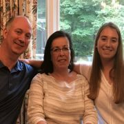 HSS patient Caroline Haywood with parents