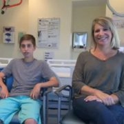 HSS patient Michael Siroty and his mother