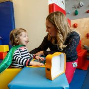 Pediatric Speech Therapist with Patient