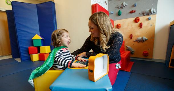 Pediatric Speech Therapist with Patient