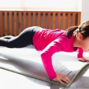 Young Girl Doing Push-Ups
