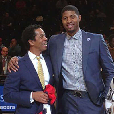 Image - Paul George and Dr. Riley Williams