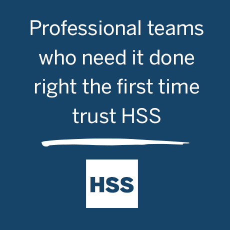 Graphic: Professional teams who need it done right the first time trust HSS