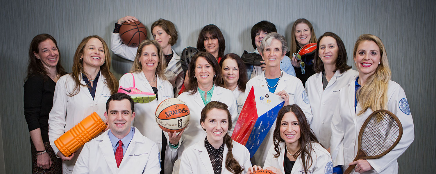 Banner image of the entire Women's Sports Medicine Center team